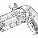Day19: Crazy steampunk cycle gun thing.